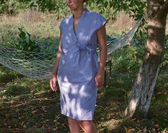SALE Max Mara Silk Dress lavender dress purple cocktail dress Vintage 80's dress