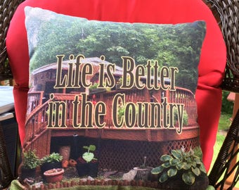 Custom Throw Pillow with insert 14x14, 14x20, 16x16 | Your photo | custom words | Home Decor | Hostess Gift