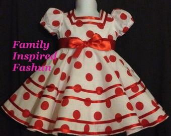 Shirley Temple replica dress, size 2