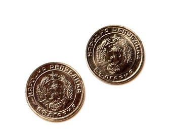 Limited Time Offer Bulgaria Coin Cufflinks - Men's Jewelry - Handmade - Gift Box Included