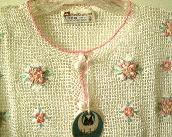 New Old Stock Crochet Top, NWT