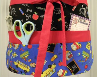 Teacher Aprons-Crafter Vendor Utility Apron-School Rules