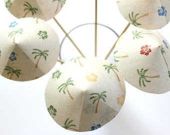 Palm Tree Drink Umbrellas, Drink Stirrers, Tropical Party, Set of 6