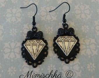 earrings pin up diamond