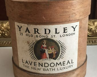 Round Yardley Lavendomeal Wood Box
