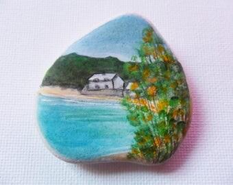 Durgan Beach cornwall England - art on Scottish sea pottery