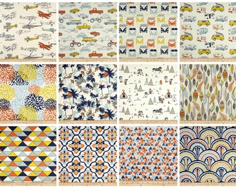 Decorative Curtains- Pair of Drapery Panels- Premier Prints Maya Curtains- Custom Drapes- Orange Curtains- Yellow Curtains- Window Treatment