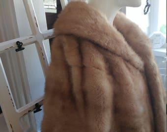 Vintage classic blonde light brown mink stole 1950s