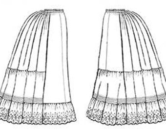 Truly Victorian TV170 Petticoat Pattern All Sizes