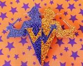 Magic Joke Shop Twins Jumbo Glitter Brooch