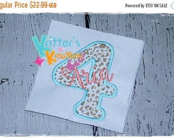 SALE Personalized Birthday - Embroidered Applique Shirt