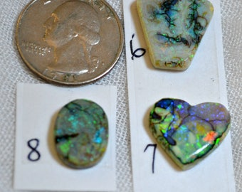 Sterling opal cabochons 6,7, 8  each sold separately