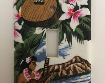 Hula Girl Single Light Switch Plate