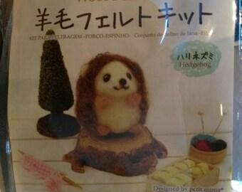 Daiso Wool Needle Felting Kit - Hedgehog