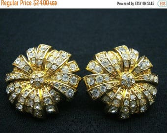 On Sale Vintage Monet Rhinestone Earrings Mad Men Mod Hollywood Regency Mid Century Modern Jewelry