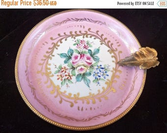Now On Sale Collectible Dish High End Ornate Flower Motif Design Plate, Decor Main Porcelaines Champ Elysees Made in Paris France