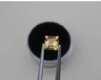 ON SALE Citrine Square Natural Loose Gem 5mm