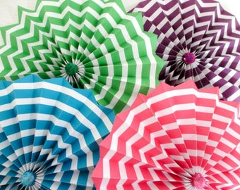 Fans Rosettes Hanging Fans Pinwheels Fiesta Banner Rainbow Decoration Party Fans Table Backdrop Birthday Party Photo Background Chevrons
