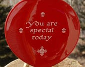 Waechtersbach Red Plate You Are Special Today Germany Original Heart Shaped Red Plate