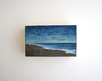 Beach Oil Painting - 3 x 5