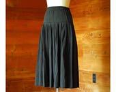 vintage Gene Ewing black cotton skirt / size small medium