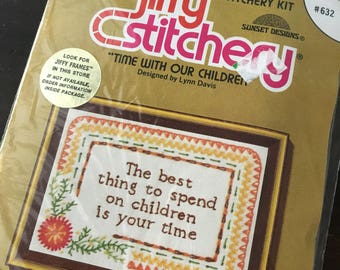 Time with our children Stitchery embroidery jiffy crewel kit 632 by unopened
