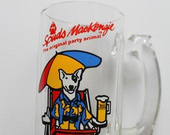 Vintage Spuds MacKenzie The Original Party Animal Bud Light Beer Mug 1987
