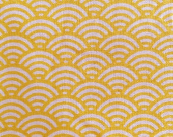 Japanese wave pattern - yellow collection sushi - 50 cm