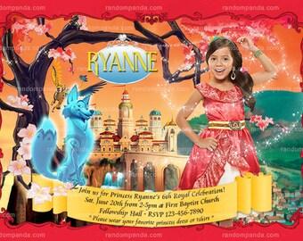 Personalize BE Elena of Avalor Invitation, Princess Elena Costume Party Invite