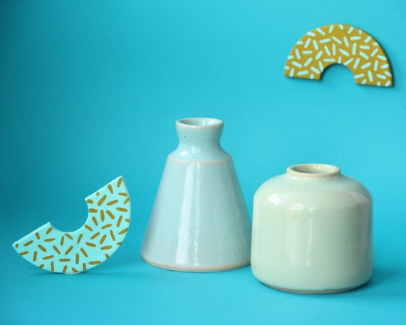 modern pastel ceramic bud vases