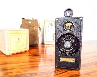 Vintage Ansco Memo Camera Miniature Detective, Retro Photographic Studio Room Decor,