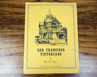 Vintage 1974 Portfolio of Prints San Francisco Victorian House Lithographs by Bruce W Tackett