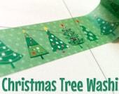 Christmas Trees Xmas washi tape, winter, scenery, planner, craft, scrapbooking, journal, bujo, masking tape, paper tape