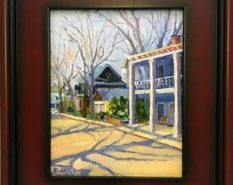 Original Plein Air Landscape Oil Painting My Little Town