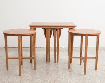Set of 5 Mid Century Nesting Side / End Tables