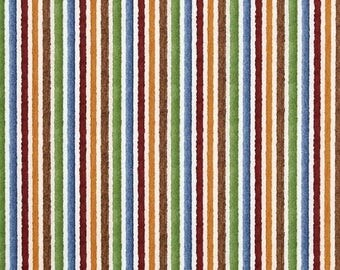 """SUMMER SALE END Of Bolt - 9"""" X 44"""" - Multi Stripes from Quilting Treasure's Tool Box Collection"""