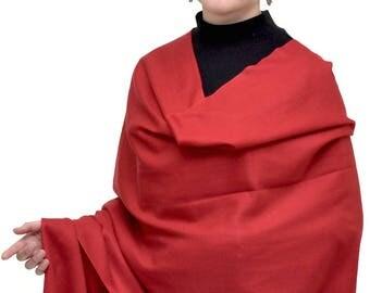 Red/Cranberry Cashmere Silk Scarf - HOP Cashmere