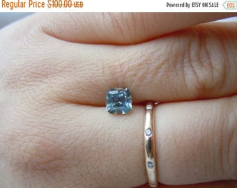 SUMMER FLASH SALE Reserved: Payment Plan for Genuine Montana Sapphire Cushion Cut 1.33 carat Blue Silver and Gold Color Change Loose Gemston