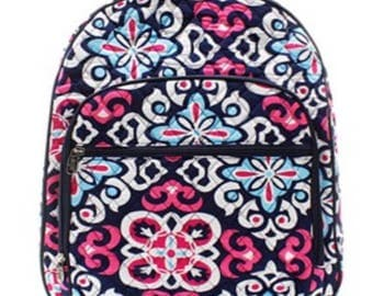 Monogrammed Geometric Quilted Bookbag - Back to School Backpack -Overnight bag - Bookbag - Back to school - Other colors available