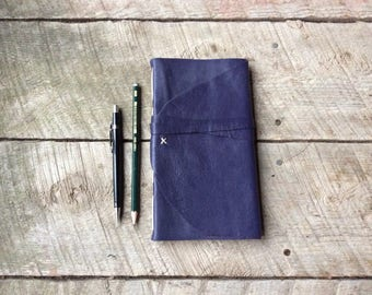 Deep Purple Leather Journal-Travel Journal-Sketch Book-Notebook-Handmade