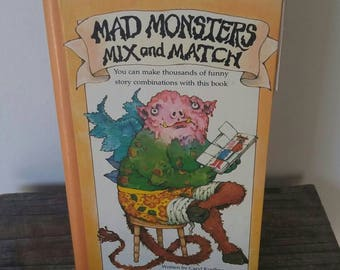 Vintage Children's Book - Mad Monsters Mix and Match - 1977