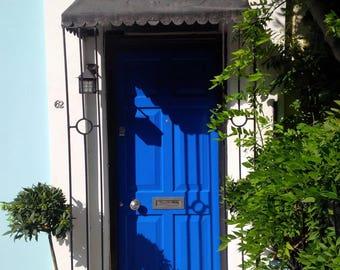 Porta blu. Stampa fotografica