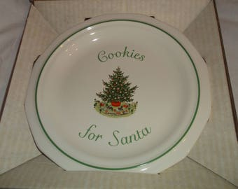 Pfaltzgraff Christmas Heritage Cookies For Santa Plate 8 3/8""