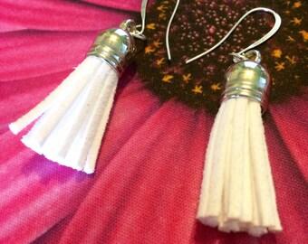 Small Silver Tassel Earrings