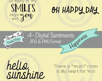 We Are 3 Digital Shop - Sentiments - Happiness, Smiles, Happy Day, Mushroom