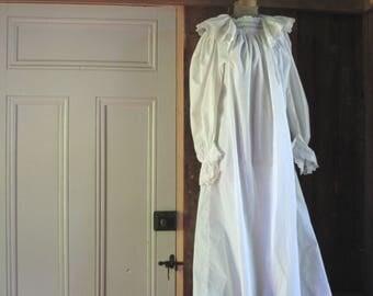 Antique cotton nightgown ~ Wee Willie Winkie meets Anna Biddle