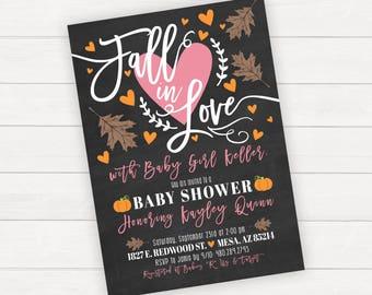 Halloween Baby Shower Fall Baby Shower Girl Baby Shower Fall In Love Baby Shower Invitation Baby Shower Invite Rustic Baby Shower Invite