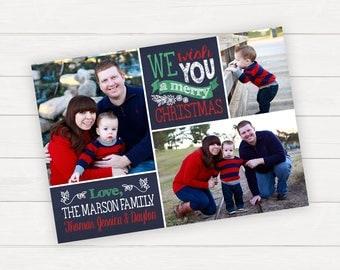 Christmas Photo Card Christmas Photo Cards Holiday Photo Cards Printable Christmas Cards Family Photo Card Personalized Christmas Cards