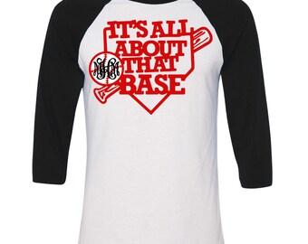 Monogrammed All About That Base Raglan T-Shirt