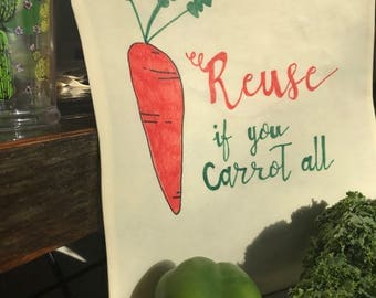 Carrot Grocery Bag